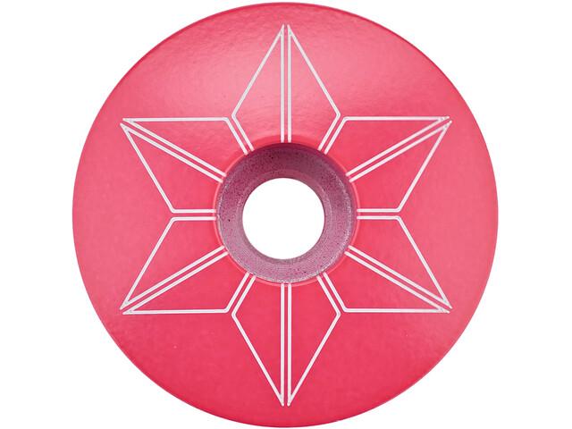 Supacaz Star Capz Ahead Kap gepoedercoat, neon pink